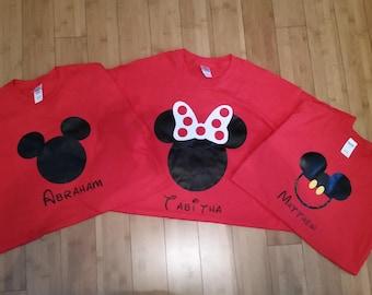 Family Disney shirts set of three