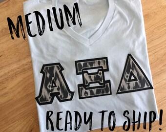 Alpha Xi Delta V Neck Greek letter shirt