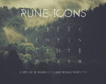 Rune SVG, Viking Runes icon pack, Graphics, Rune Font, Rune Icons, digital art, laser engraving, clipart, printing, vector like png, jpg