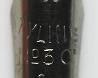 Stylomine #30 Steel Point (1) Nib w16789 24mm Long Rare Part Fountain Pen Part Vintage Repair Rebuild