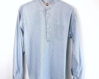 LEVI'S • robust cottonshirt • M • longsleeve • shirt • top • denim