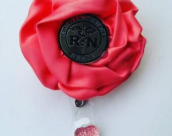 RN flower badge reel