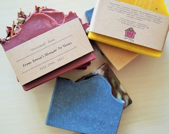 Wedding Favour Soap - 2 oz Soap, Baby Shower Soap, Guest Soap, Custom Soap, Mini Soap, Half Soaps, Made to Order Soaps