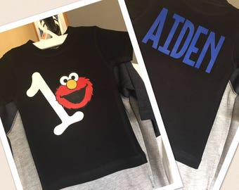 Elmo Birthday Tshirt