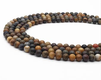 1Full Strand 8mm Petrified Wood Round Beads,Wholesale Petrified Wood Gemstone For Jewelry Making