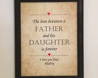 Father daughter gift | Etsy