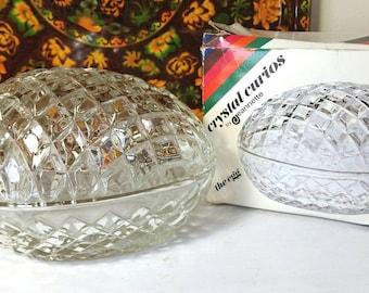 Jeannette Crystal Cut Egg - Perfect Unused Condition - Original Box