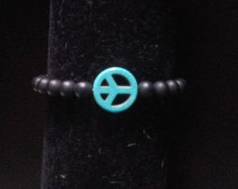 Bracelet with semi precious bead and its peace