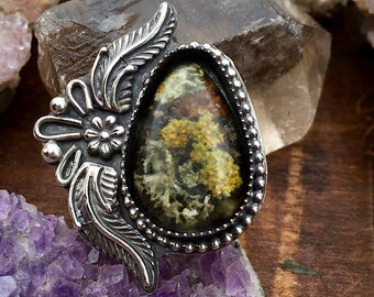 Moss and Lichen Ring, Statement Jewelry, Statement Necklace, Made to Size