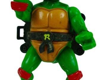 Teenage Mutant Ninja Turtles (TMNT) Talkin Turtles Raphael 4.5 Inch Action Figure 1991 Playmates