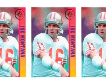 5 - 1993 Ballstreet Joe Montana Football Card Lot San Francisco 49'ers