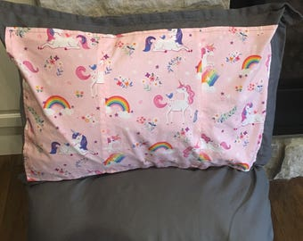 Pillow Bed, Pillow Lounger, Unicorns, Rainbows