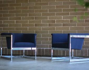 Milo Baughman Cube Chairs