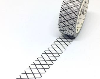 Black and White Lattice Washi Tape - Criss cross masking