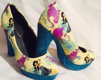 Disney aladdin / Jasmine shoes / heels* * * uk sizes 3-8 * * *