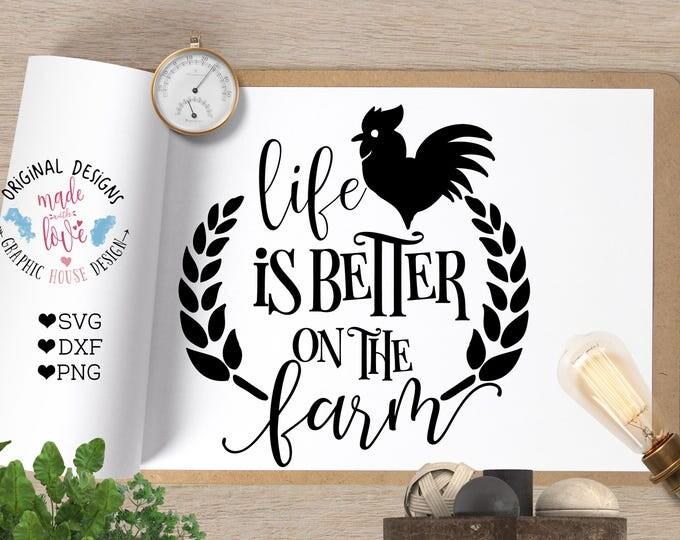 Farm SVG, Barn svg, Life is better on the Farm Cut File in svg dxf png, Farm Printable, Country Cut File, Farmers SVG, Farm Cricut  SVG