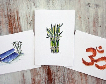 Yoga Note Cards
