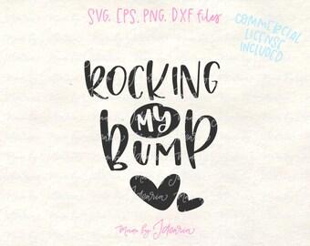 Pregnancy svg, pregnant svg, maternity svg, maternity shirt svg, baby shower svg, new baby svg, funny pregnancy svg, rocking my bump