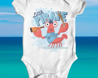 Little Pirate Baby Bodysuit | Cute Baby Boy Clothes | Baby Shower Gift | Funny Baby Bodysuit | Slogan Baby Outfit | Newborn Baby Boy