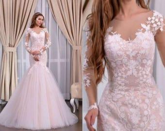 Amelia - Couture Mermaid Lace Wedding Dress