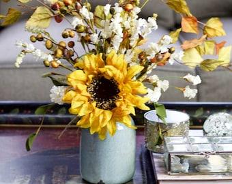 Fall Arrangement, Autumn Arrangement, Fall Floral Arrangement, Table Decor, Sunflower Arrangement, Farmhouse Arrangement, Floral Arrangement