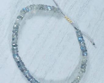 Iridescent Labradorite Stone Bracelet