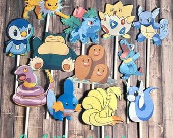 Pokémon Cupcake #2 Toppers