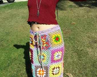 One of a kind groovy mid length hippy chick skirt....