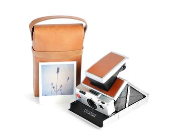 1974 Vintage Polaroid SX-70 Land Camera With Leather Travel Case - Tested & Working