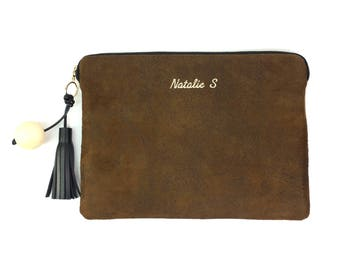 "Personalised Faux Suede  11"" 12"" 13"" 14"" 15"" 16"" Laptop Sleeve Case, MacBook - Air - Pro, Chromebook, XPS,  ZenBook, Inspiron , All Size."