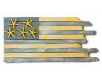 Handcrafted Coastal Flag - Lemon Drop