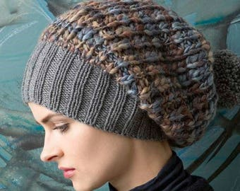Extra chunky hat Cap luxury with cashmere