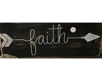 Faith arrow sign