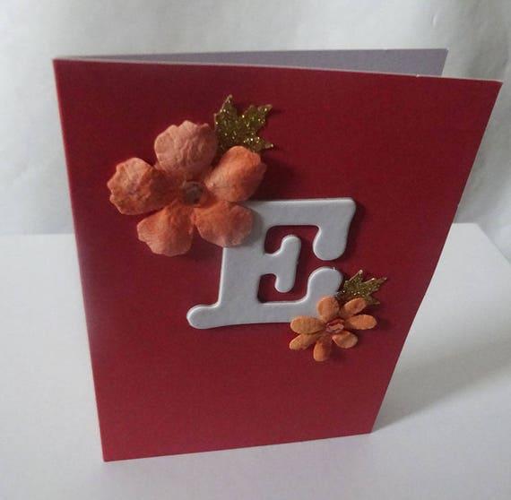 """Monogram/Initial Card - Letter """"E"""""""