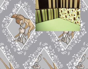 Bambi Crib Bumper Bambi Boy Girl Crib Bedding Bambi Nursery Baby Girl Bedding Crib Bumper Boy Nursery Timber Crib Bumper Bedding