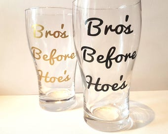 Bro's pint set, best mate gift, bff, bestie gift, friendship gift, bachlor party, funny friend gift, personalised friend, 21st male gift