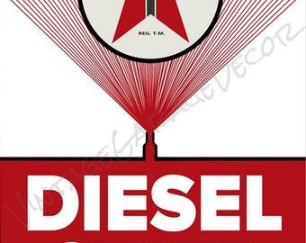 Reproduction Texaco Diesel Chief Gasoline Metal Sign