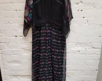 70s floaty maxi dress. UK size 12