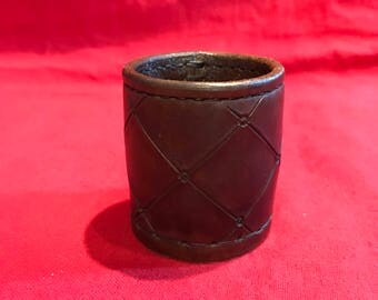Leather 'Mini' Chop Cup