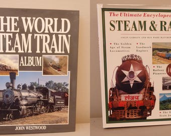 2 - vintage  The World of Steam Trains, Steam & Rails  Railroad Books