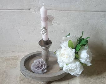 Country/rustic style candle holder/candlestick