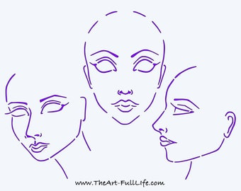 Face Template Stencil Starter Set