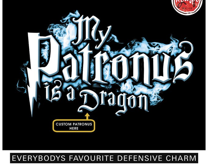 Choose Your Own PATRONUS T-SHIRT Customize With Any Animal Dragons Dogs Cats Birds Mythical Creatures or Fantastic Beasts Wizard Spell