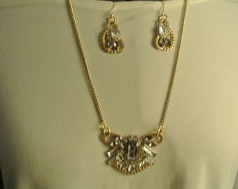 An Old Fancy Necklace and Earrings