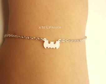 Batman bracelet, batman jewelry, batman charms, bat bracelet, superhero bracelet, batman sign, knight bracelet, batman inspired, batman bats