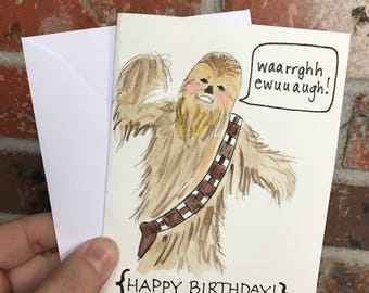 Star Wars Birthday Card - Chewbacca