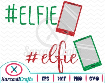 Elfie - Christmas/Holiday Graphic - Digital download - svg - eps - png - dxf - Cricut - Cameo - cutting machine files