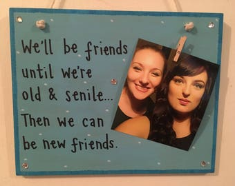 Personalised friends plaque