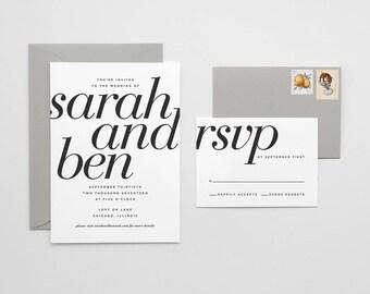 Bold Serif Invitation Suite