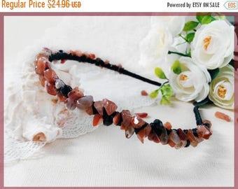 Sale Brown woman headband Summer outdoors Boho beaded headband Bridal wedding headpiece Hair piece jewelry Brown headpiece Bridesmaid hair